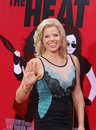 Megan hilty stylish stage and tv performer waves to the media on the red carpet of the ziegfeld theatre in mid town manhattan for Stock Images