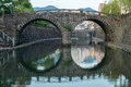 Meganebashi spectacles bridge in nagasaki japan was built it s a oldest stone arch and has been designated as an Stock Image