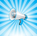 Megaphone background blue vector eps Royalty Free Stock Photos