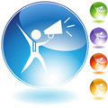 Megaphone Businessman Crystal Icon Royalty Free Stock Photography
