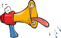 Megaphone funny on white background Royalty Free Stock Photography
