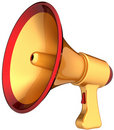 Megaphone golden news Royalty Free Stock Images