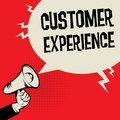 Megaphone Hand business concept Customer Experience
