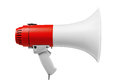 Megaphone isolated on white clipping path Royalty Free Stock Image