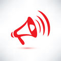Megaphone symbol loudspeaker vector Stock Photo