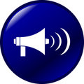 Megaphone vector button Stock Photography