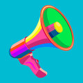 Megaphone vector colored on a homogeneous background Stock Photos