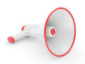 Megaphone on a white background realistic d rendering Stock Photography