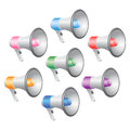 Megaphones Icon Set Stock Photo