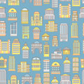 Megapolis seamless pattern background of buildings city municipal and business institutions urban landscape silhouettes public Stock Photo