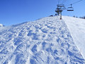 Megeve one most famous french ski resort alps towards torraz jaillet side Royalty Free Stock Photo