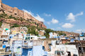 Mehrangarh fort in jodhpur rajasthan india and the famous blue city Royalty Free Stock Photos