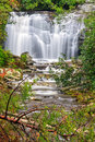 Meigs falls flows in the beautiful landscape of great smoky mountains national park in tennessee Stock Photos