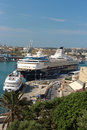 'Mein Schiff 1' cruise ships in Valletta Royalty Free Stock Photo
