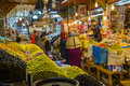 Meknes, Morocco - March 04, 2017: Traditional fruit and sweets m