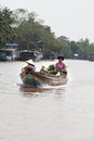 Mekong delta cai be town vietnam district tien giang province floating market south locals going to the market on Royalty Free Stock Photography