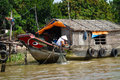 Mekong delta life in vietnam Stock Photo