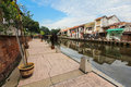 Melaka riverside esplanade in the morning malaysia scene at Royalty Free Stock Images