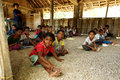 Melanesian People / School in Papua New Guinea Royalty Free Stock Photo