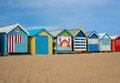 Melbourne beach cabins Royalty Free Stock Photo