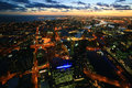 Melbourne City light at night Royalty Free Stock Photo