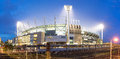 The melbourne crricket groud cricket ground in victoria australia at night mcg is largest stadium in australia Royalty Free Stock Image
