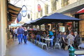 Melbourne lane culture locals and tourist enjoying dining on famous degraves street cbd australia Stock Photos