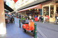 Melbourne lane culture locals and tourist enjoying dining on famous degraves street cbd australia Royalty Free Stock Photography