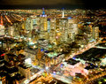 Melbourne overview beautiful of city at night Stock Images
