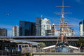 Melbourne polly woodside boat ship is the major attraction of the maritime museum Stock Photography