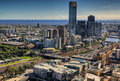 Melbourne skyline Stock Photos