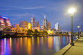 Melbourne Skyline at Twilight Royalty Free Stock Images