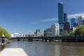 Melbourne Southbank Royalty-vrije Stock Fotografie
