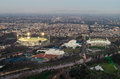 Melbourne sporting precinct of Melbourne Cricket Ground by the Yarra Royalty Free Stock Photo