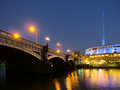 Melbourne yarra city view at night Royalty Free Stock Image