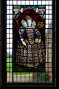 Melford Hall Stainglass Window Royalty Free Stock Photo