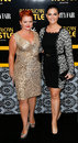 Melissa mcmeekin erica mcdermott new york dec actors l and attend the american hustle premiere at the ziegfeld theatre on december Royalty Free Stock Images