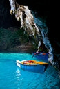 Melissani lake kefalonia view of greece Royalty Free Stock Photo