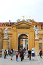 Melk abbey austria september melk abbey main entrance lower austria september melk abbey austrian benedictine abbey one world s Stock Photos