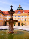Melk abbey courtyard fountain in the of austria Stock Image
