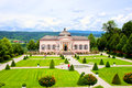 Melk abbey gardens view over the garden at austria Stock Photography