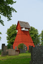 Mellerud church tower like a campanile in italy the bell towers in swedish villages are often set apart from the main building Stock Images