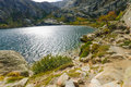 Melo lake the lac de in corsica france Stock Photo