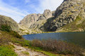 Melo lake the lac de in corsica france Stock Image