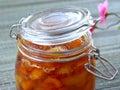 Melocotón albaricoque atasco de la nectarina Foto de archivo libre de regalías