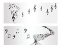 Melody note music vector banner backround Royalty Free Stock Photography