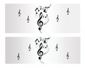 Melody note music vector banner backround Royalty Free Stock Image
