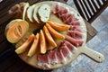 Melon Bread And Ham