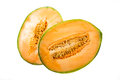 Melon cut in half Royalty Free Stock Photo
