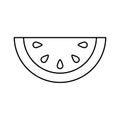 Melon fresh fruit icon